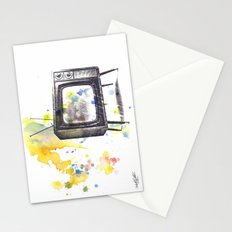 Retro Television Painting Stationery Cards