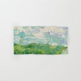 Green Wheat Fields, Auvers, 1890, Vincent van Gogh Hand & Bath Towel