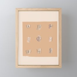 Ode to Bums Framed Mini Art Print