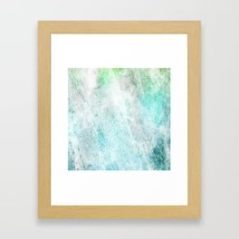 Mint Green Abstract Framed Art Print