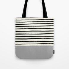 Storm Grey x Stripes Tote Bag