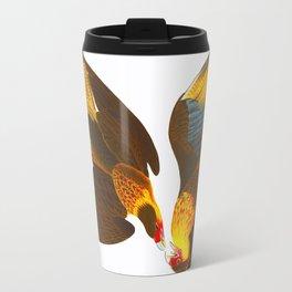 Caracara Eagle Illustration Travel Mug