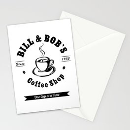 Bill and Bob's Coffee Shop - AA 12 Step Recovery Sober Gift T-Shirt Stationery Cards