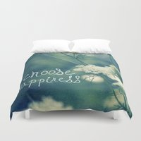 happiness Duvet Covers featuring Happiness by Sandra Arduini