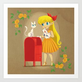 Retro Sailor Venus Art Print