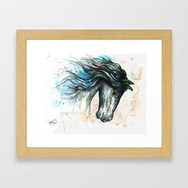 Blue friesian 2 Framed Art Print
