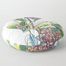 Light white-pink flower - HOYA Floor Pillow