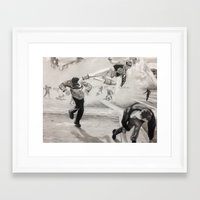 power ranger Framed Art Prints featuring 'White Power' Ranger by Isaac Smith