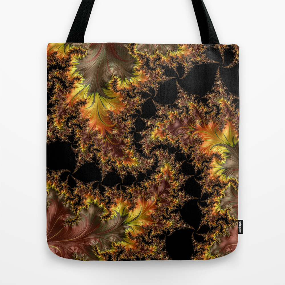 Autumn Leaves Yellow Brown Orange Fractal Tote Purse by Dianadeavila (TBG9745564) photo