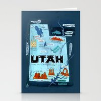 utah Stationery Cards featuring UTAH by Christiane Engel
