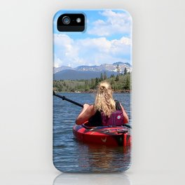 Watercolor People in Nature, OL, Adult 06, Willow Creek, Colorado iPhone Case