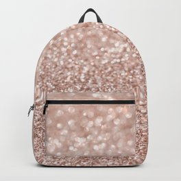 Sparkling Rose Gold Blush Glitter #2 #shiny #decor #art #society6 Backpack