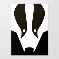 badger Canvas Prints featuring Badger by Christian Bailey
