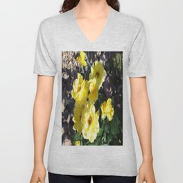 Yellow Rose Unisex V-Neck