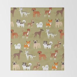 AFRICAN DOGS Throw Blanket