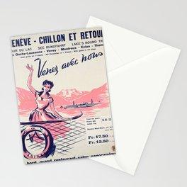 plakat geneve chillion et retour venez Stationery Cards