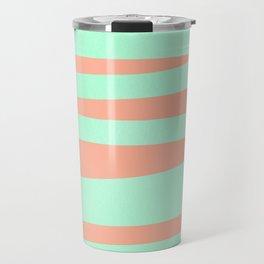 Sweet Life Soft Serve Peach Coral + Mint Meringue Travel Mug