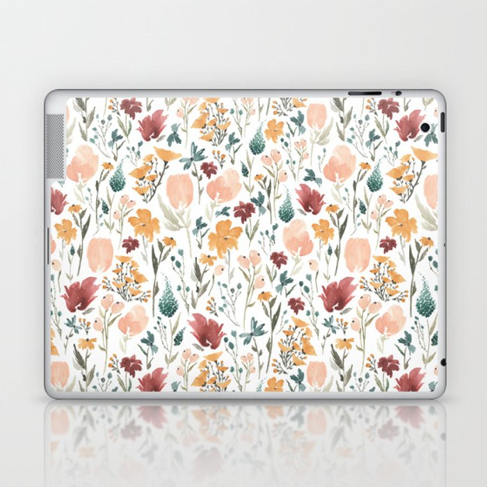 Deep Florals Laptop & iPad Skin
