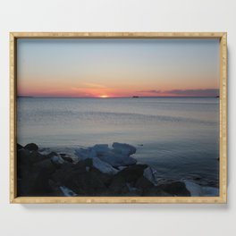 Late winter -early spring sunset Serving Tray