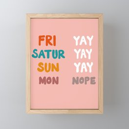 YAY Framed Mini Art Print