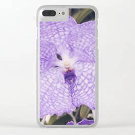 Purple Phalaenopsis Orchid Clear iPhone Case