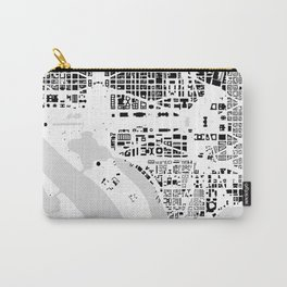 Washington DC building city map Carry-All Pouch