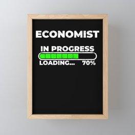 Economist in progress loading economics study Framed Mini Art Print