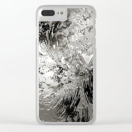 texture in black and white Clear iPhone Case