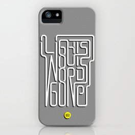 Lights Out, Words Gone iPhone Case