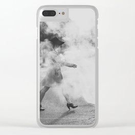 Steamy in the street Clear iPhone Case