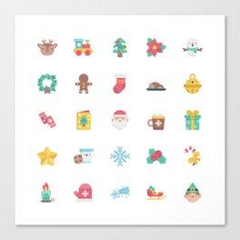 CUTE CHRISTMAS HOLIDAYS WINTER PATTERN Canvas Print