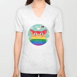 LGBT Cat Unisex V-Neck
