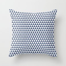 triangles - blue and white Throw Pillow