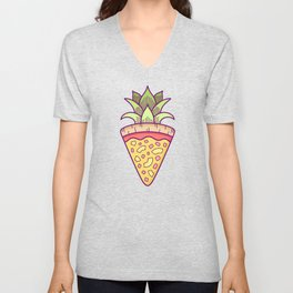 Pineapple Pizza Coat of Arms Unisex V-Neck