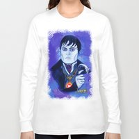 johnny depp Long Sleeve T-shirts featuring Barnabas Collins - Johnny Depp by Jonboistars