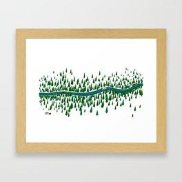 Jeju Forest Framed Art Print