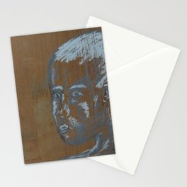 looking boy Stationery Cards