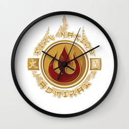 Fire Nation Admiral Wall Clock