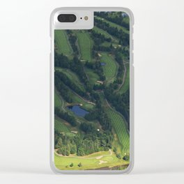 Quebec's golf course view from the sky Clear iPhone Case
