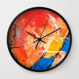 Abstract Expressionism Pastel Painting Ultra HD Wall Clock