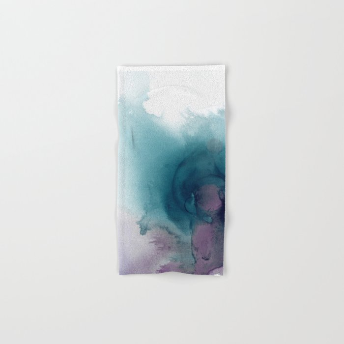 Teal Ultra Violet Vortex Hand & Bath Towel