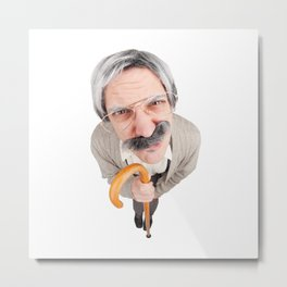 Grumpy Old Guy Metal Print