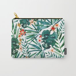 TROP DON'T STOP Tropical Palms and Monstera Carry-All Pouch