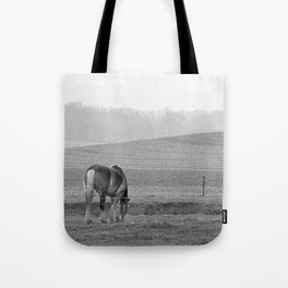 Draft Horse in the Field Tote Bag
