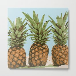 Pineapple Lineup Metal Print