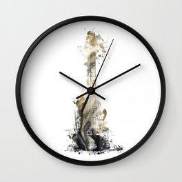 Blues Guitar Wall Clock
