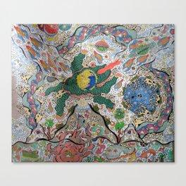 Volcano Lizard Canvas Print
