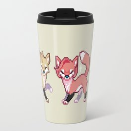 Mulder and Scully Foxes Travel Mug