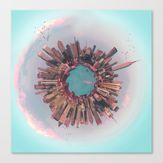 New York City mini world Canvas Print