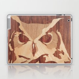 Owl marquetry art picture Laptop & iPad Skin